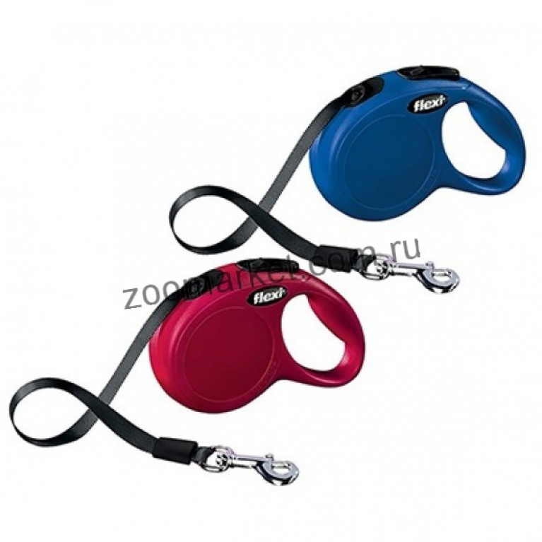 Flexi New Classic 5 метр. S/Рулетка с лентой подходит для собак весом до 15 кг
