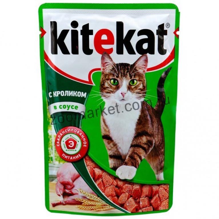 Kitekat Корм для кошек (Кролик в соусе) 85г, 5 шт