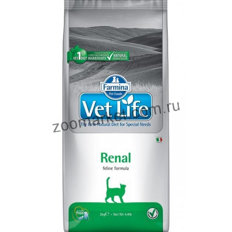 Farmina Vet Life Cat Renal/Диетическое питание для кошек  при почечной недостаточности