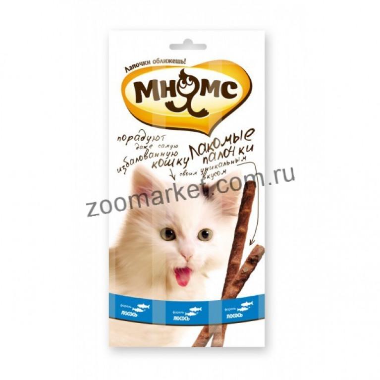 Мнямс Лакомые палочки для кошек (Форель, лосось) 13,5 см 1 шт.