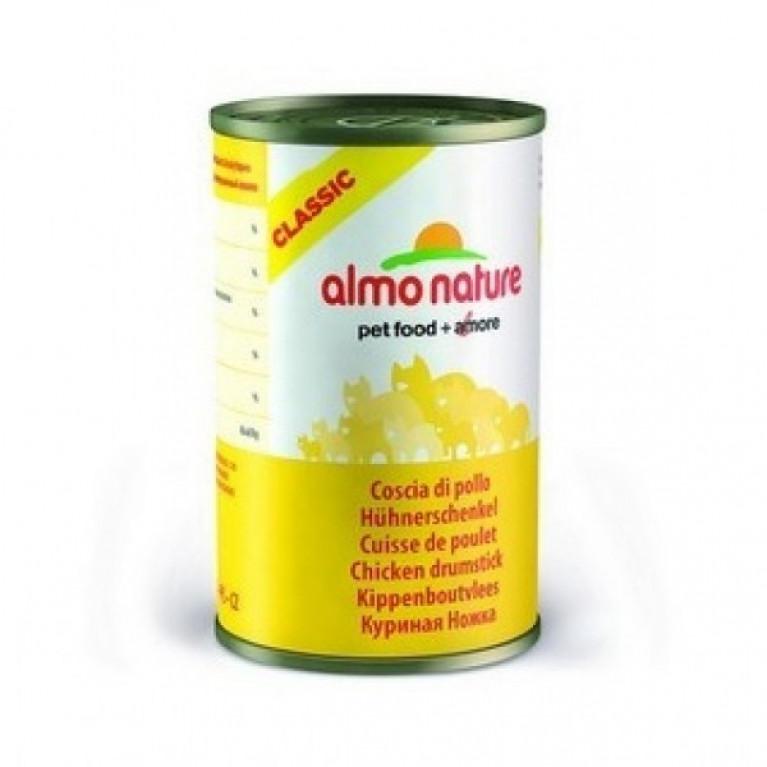 "Almo Nature Classic HFC Adult Cat Chicken Drumstick Консервы для кошек ""Аппетитные куриные бёдрышки"" 140 г"