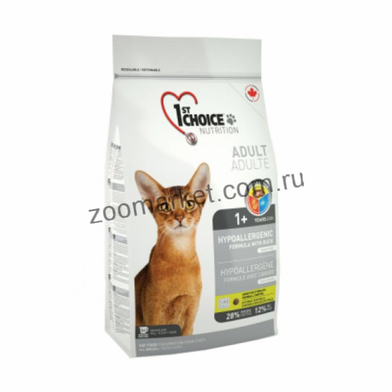1st Choice Сухой корм для кошек гипоаллергенный (без зерна, утка с картофелем)