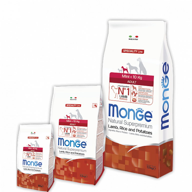 Мonge Speciality Extra Small корм для взрослых собак мелких пород (ягненок, рис и картофель)