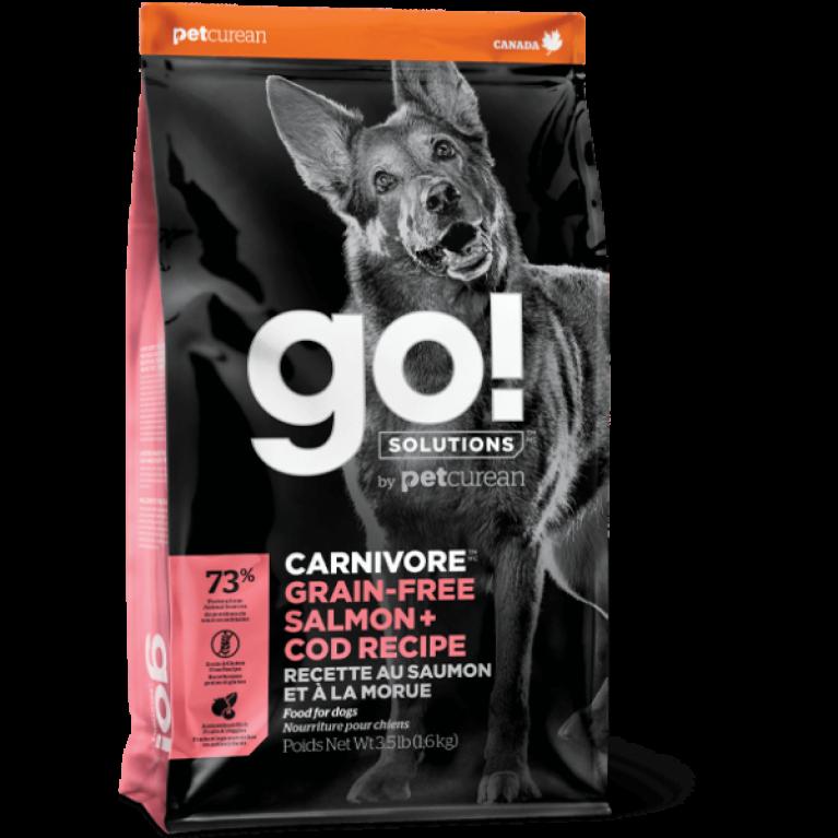 GO! CARNIVORE GF Salmon + Cod Recipe DF Беззерновой корм для Собак всех возрастов c Лососем и Треской