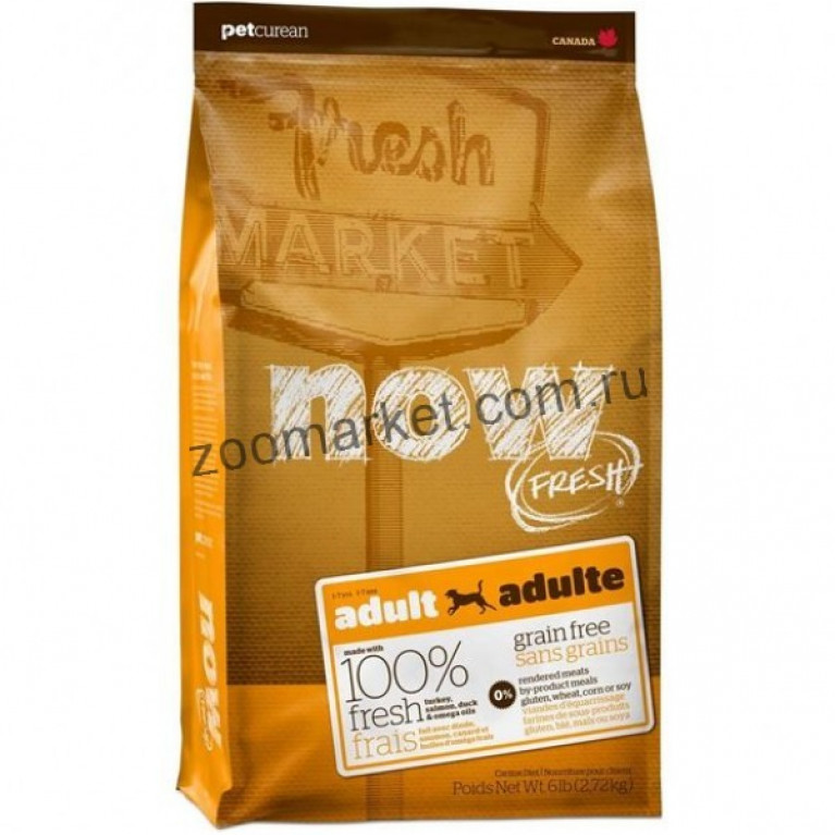 Now Fresh Adult Recipe Grain Free/Беззерновой корм для взрослых собак всех пород с индейкой, уткой и овощами