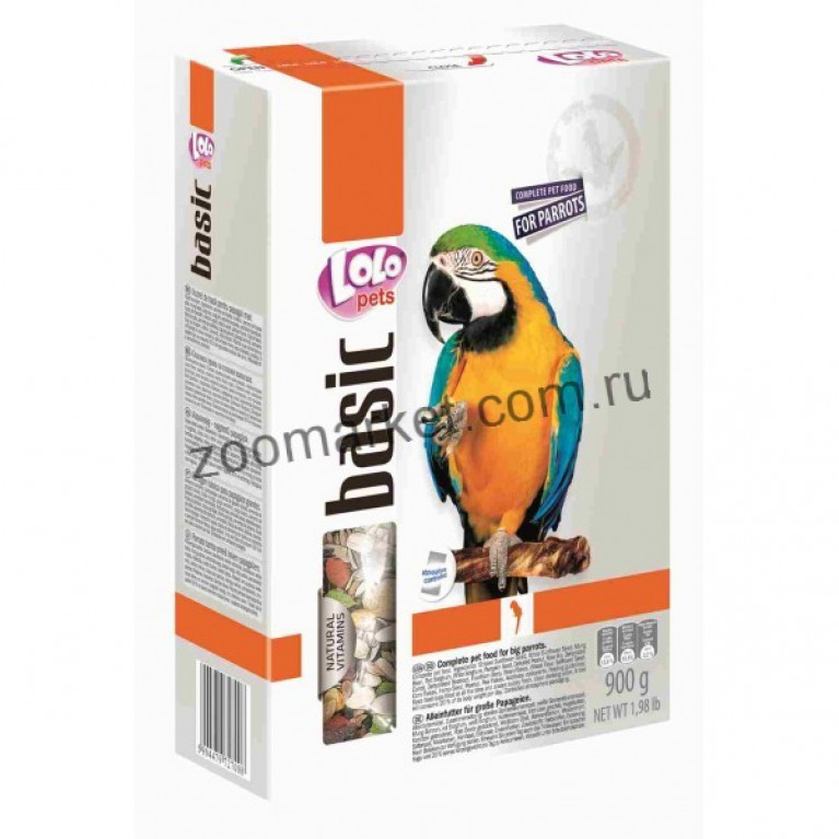 LoloPets Полнорационный корм для крупных попугаев