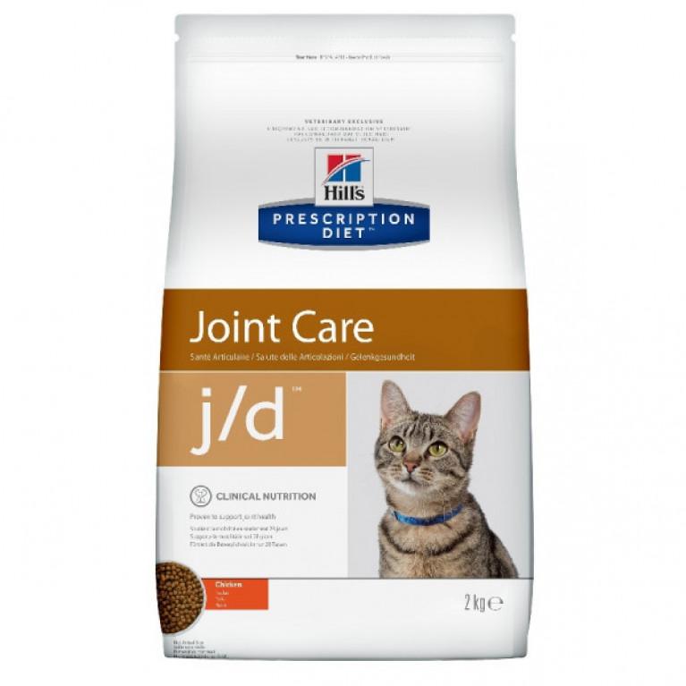 Hill's Prescription Diet J/D Сухой корм для котов лечение заболеваний суставов 2 кг