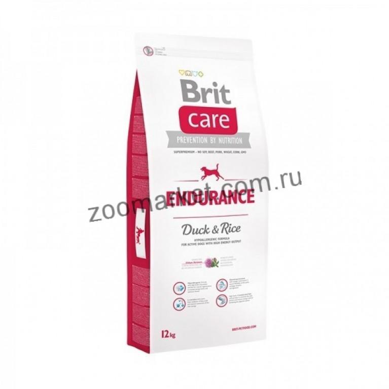 Brit Care Endurance/Сухой корм для активных собак всех пород, утка с рисом