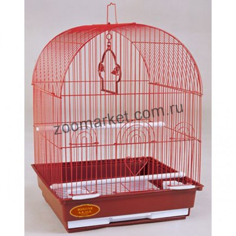 З/К/Клетка для птиц Средняя, Круглая крыша (35*28*46см)