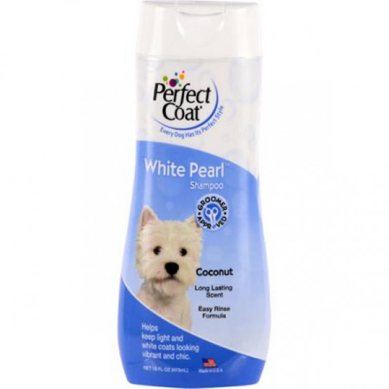 8in1 PC Perfect Coat  White Pearl Шампунь-кондиционер для собак светлых окрасов 473мл