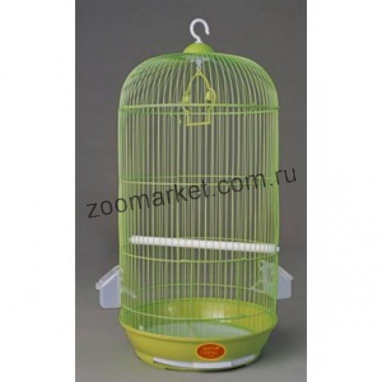 З/К/Клетка для птиц Ср Круглая ЭМАЛЬ (33*67см)