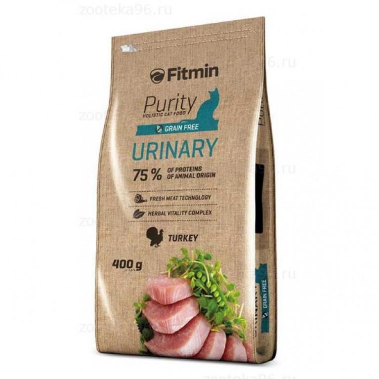 Fitmin Cat Purity Urinary Беззерновой корм для взрослых кошек, способствующий правильной работе мочевой системы.