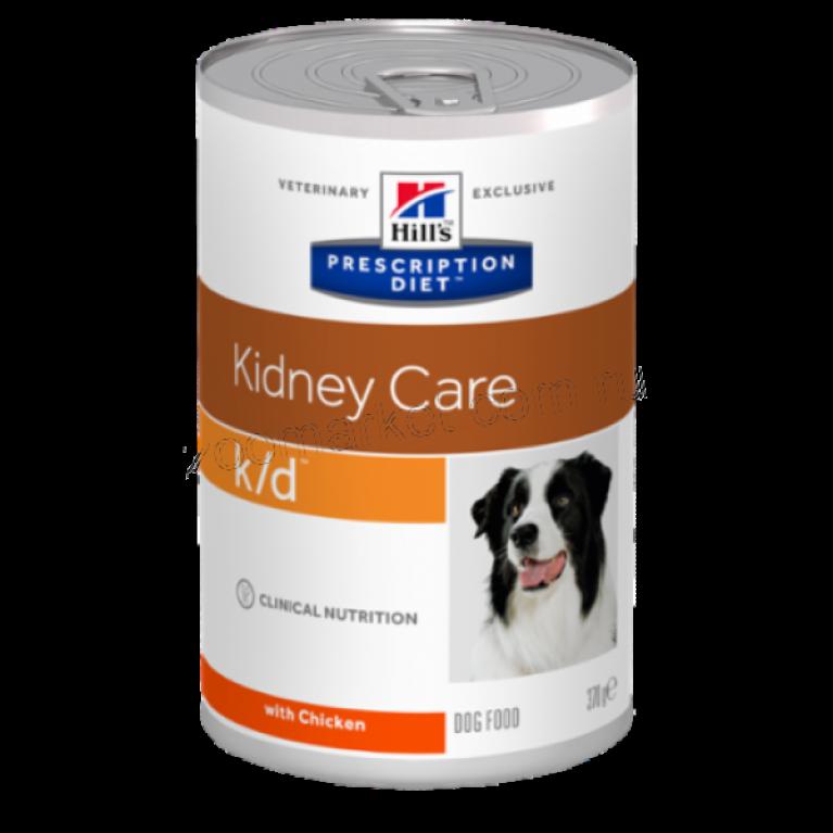 Hill's Prescription Diet K/D Консервы для собак лечение заболеваний почек 370 г
