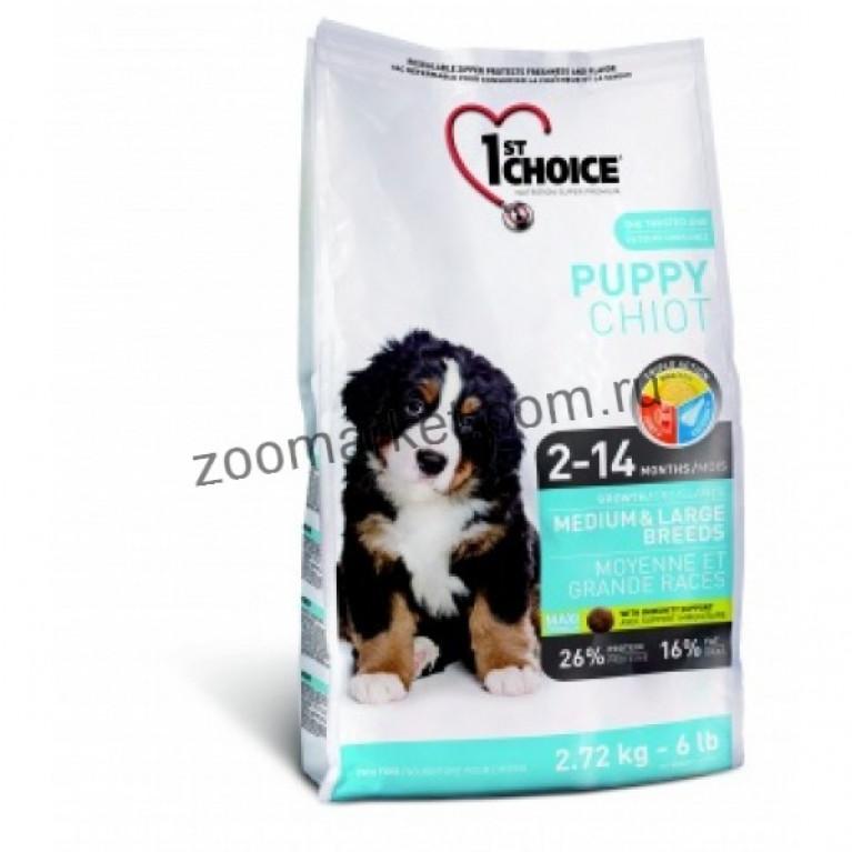 1stChoice Puppy Medium&Large/Сухой корм для щенков средних и крупных пород