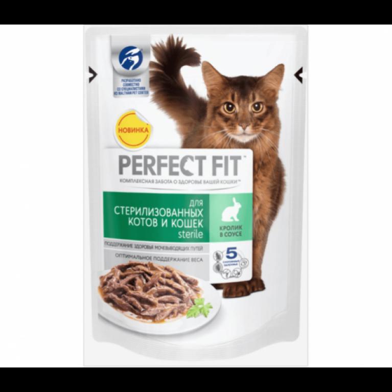 Perfect Fit Sterile Влажный корм для стерилизованных кошек (с кроликом) 85 г