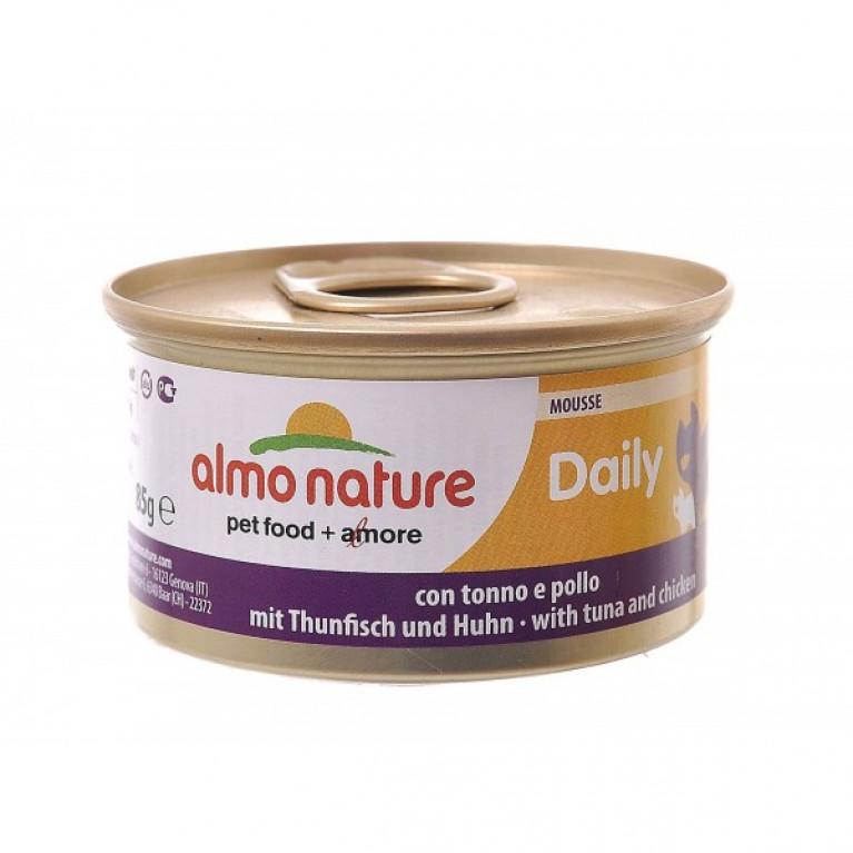 "Almo Nature Daili Menu Tuna and Chicken Консервы нежный мусс для кошек ""Меню с тунцом и курицей"" 85 г"