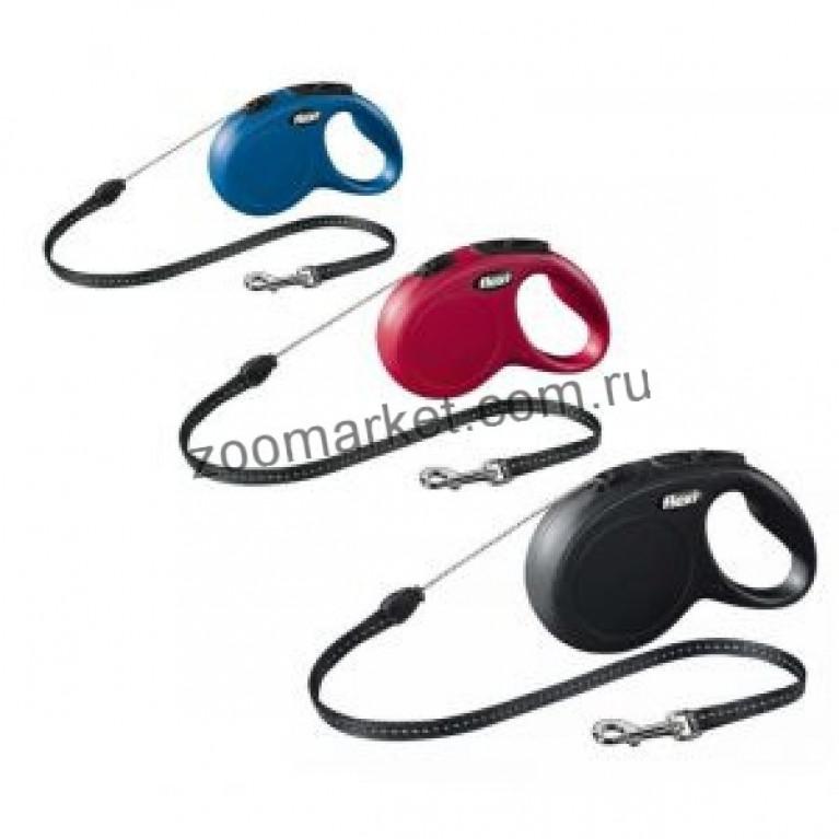 Flexi New CLASSIC 5м (S)/Поводок-рулетка (трос) для собак до 12 кг