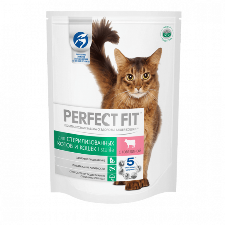 Perfect Fit Sterile Влажный корм для стерилизованных кошек (с говядиной) 85 г