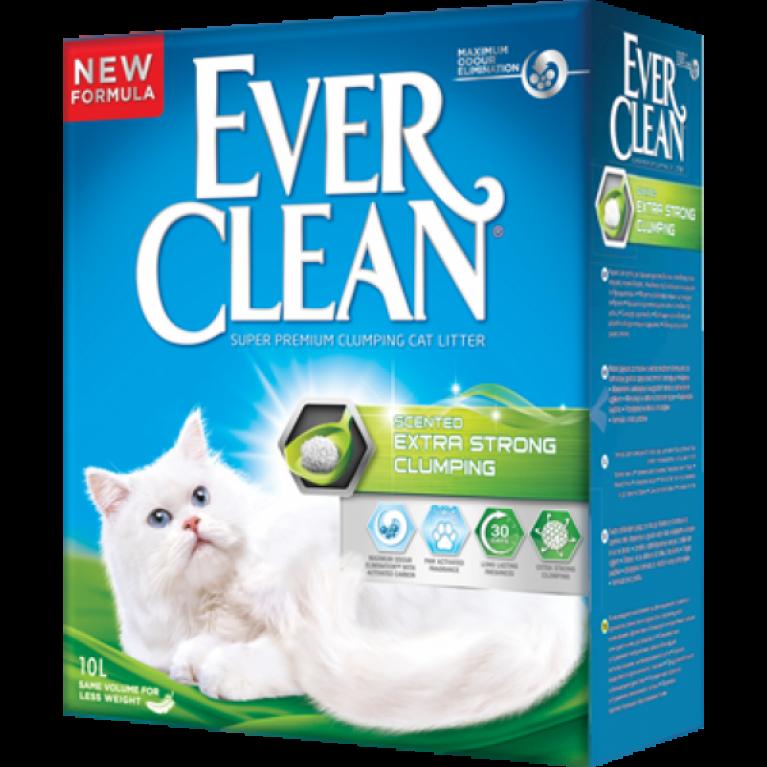 Ever Clean Extra Strength Scented наполнитель комкующийся для кошек с ароматизатором 10 л