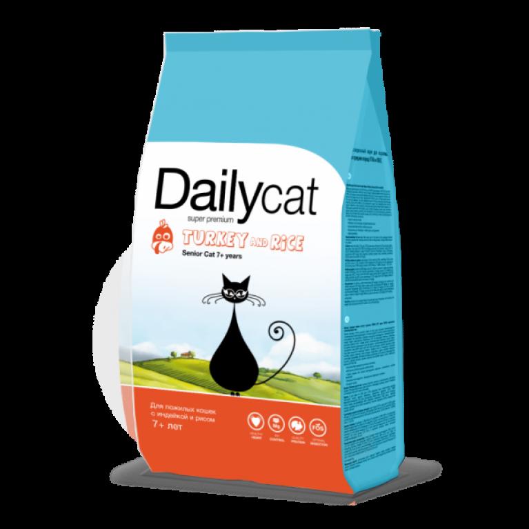 Dailycat SENIOR Turkey & Rice/Для пожилых кошек с индейкой и рисом