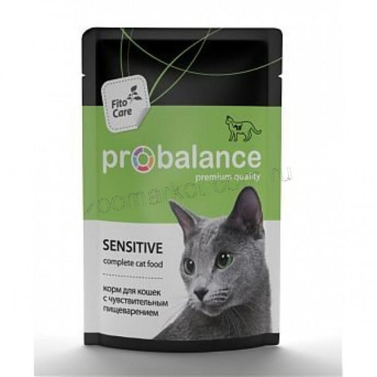 ProBalance Sensitive для кошек с чувствительным пищеварением 85гр, 5 шт