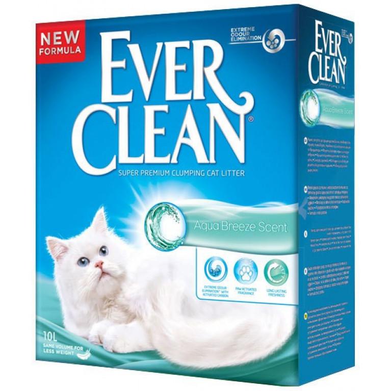 Ever Clean Aqua Breeze Наполнитель для кошек с ароматизатором Морской бриз 10л