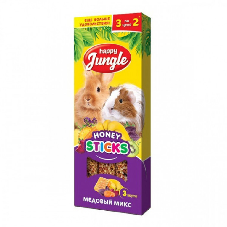 Happy Jungle Колба для крупных грызунов Мёдовый Микс