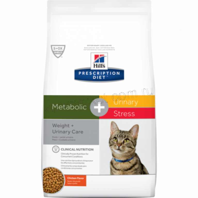 Hill's Prescription Diet Metabolic+Urinary Stress Сухой корм кошек для коррекции веса + урология стресс