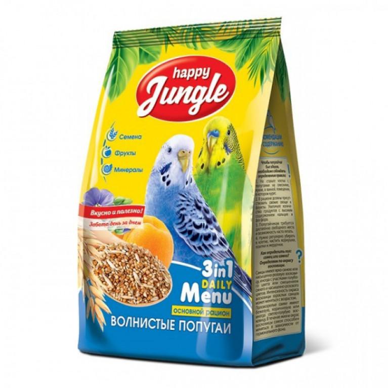 Happy Jungle Корм д/волнистых попугаев 500гр