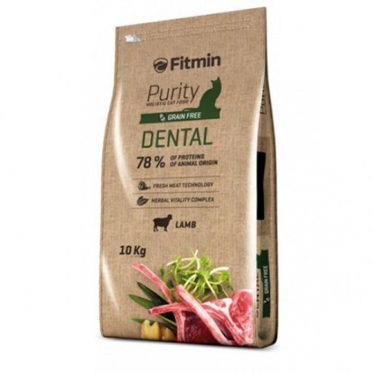 Fitmin Cat Purity Dental Полнорационный беззерновой корм для поддержания здоровья полости рта у взрослых кошек.