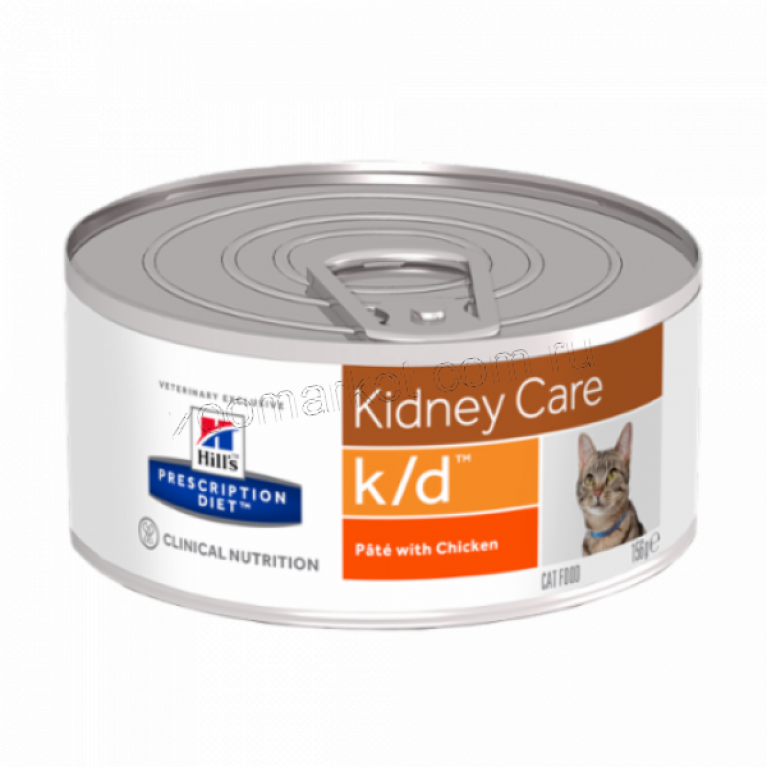 Hill's Prescription Diet K/D Консервы для кошек лечение заболеваний почек (Курица) 156 гр