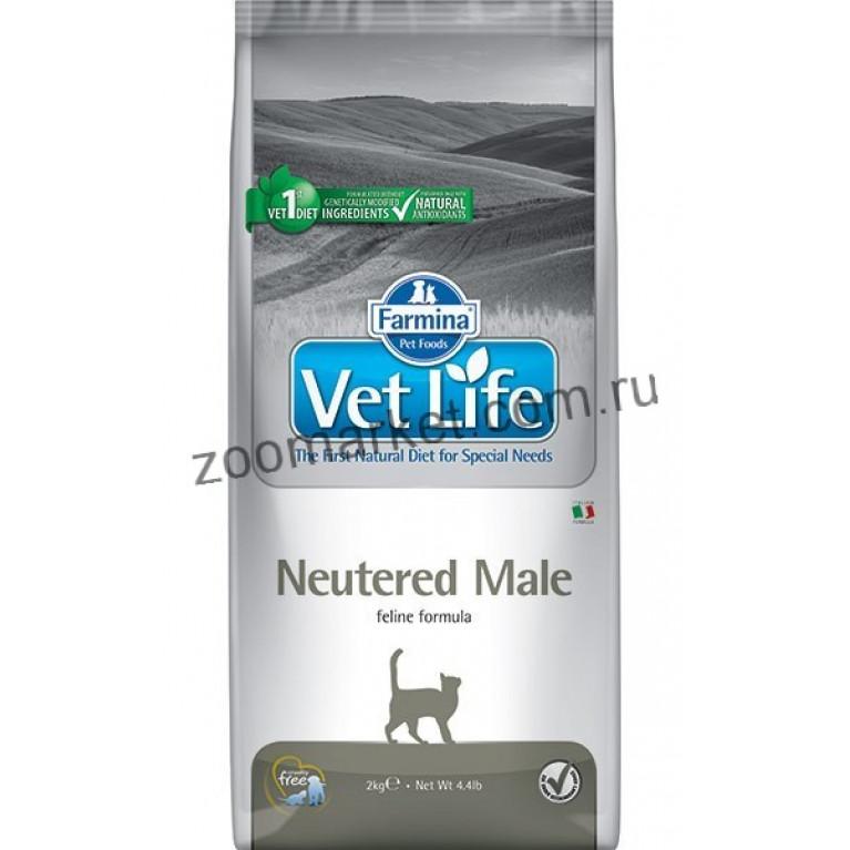 Farmina Vet Life Cat Neutered Male/Диетическое питание для взрослых кастрированных котов