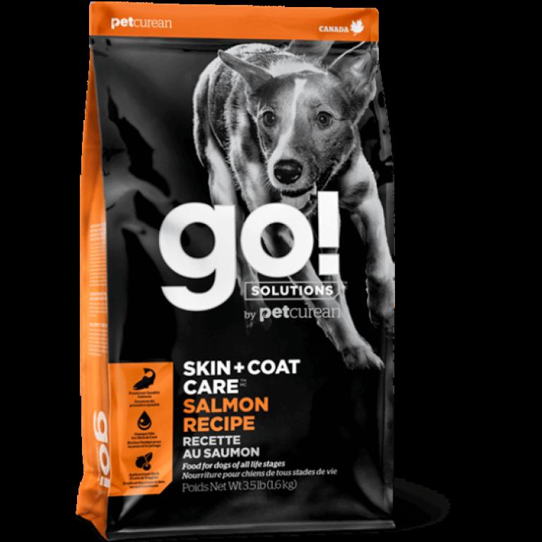 GO! SKIN + COAT Salmon Recipe DF Корм для Щенков и Собак со свежим Лососем и Овсянкой