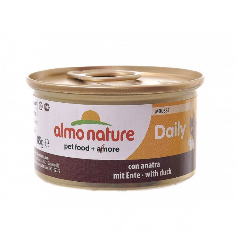 "Almo Nature Daily Menu - mousse with Duck консервы нежный мусс для кошек ""Меню с уткой"" 85 г"