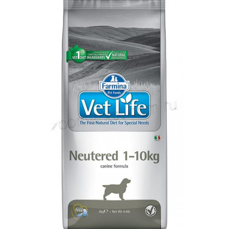 Farmina Vet Life Dog Neutered 1-10 кг Питание для стерилизованных собак весом до 10 кг