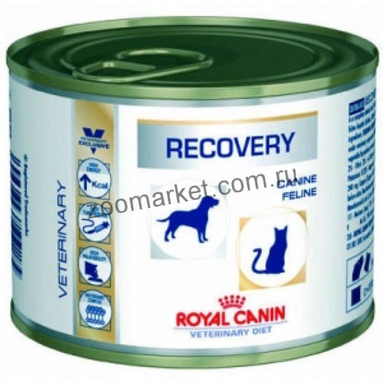 Royal Canin Recovery Feline/Canine/Паштет для животных при анорексии, 195 гр