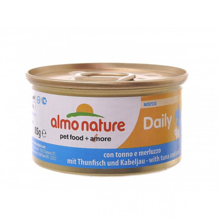 """Almo Nature Daily Menu - mousse Tuna and Cod Консервы нежный мусс для кошек """"Меню с тунцом и треской"""" 85 г"""