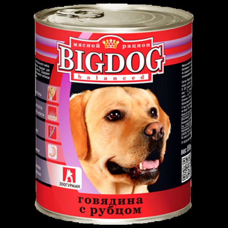 """Big Dog консервы для собак """"Говядина с рубцом"""" 850гр"""