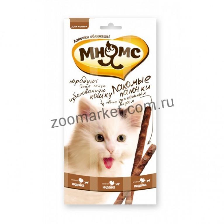 Мнямс Лакомые палочки для кошек (Индейка, ягненок) 13,5 см 1 шт.