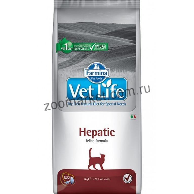 Farmina Vet Life Cat Hepatic/Диетическое питание для кошек при хронической печеночной недостаточности