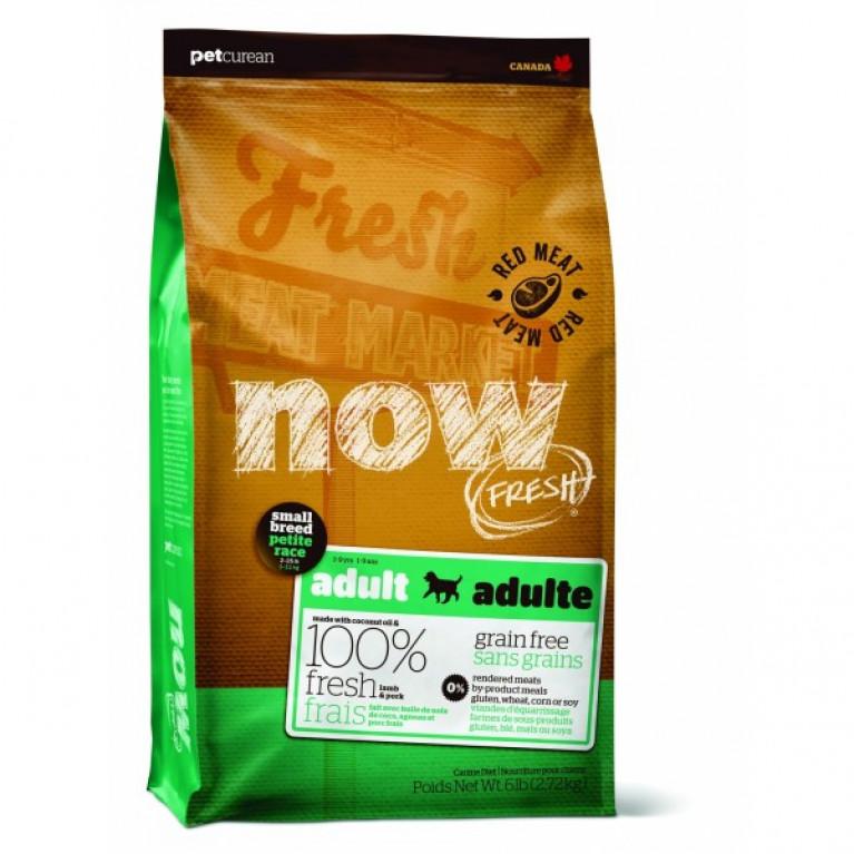 NOW Natural holistic беззерновой для малых пород со свежим ягненком и овощами, Fresh Small Breed Recipe Red Meat Grain Free