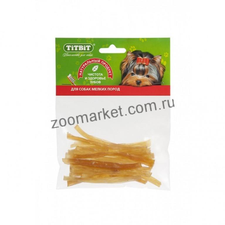 TiTBiT Лакомство Сухожилия говяжьи (соломка), мягкая упаковка