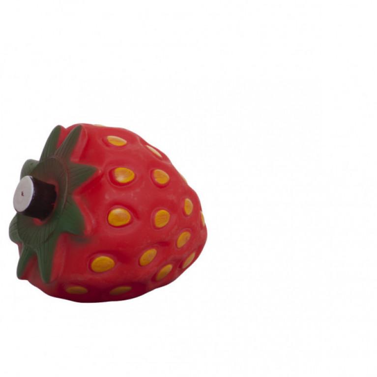YUGI Игрушка для собак клубника с отверстием для корма винил 12*10,5см