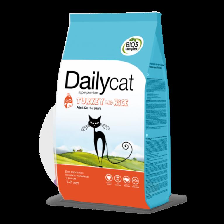 Dailycat ADULT Turkey & Rice Для взрослых кошек с индейкой и рисом