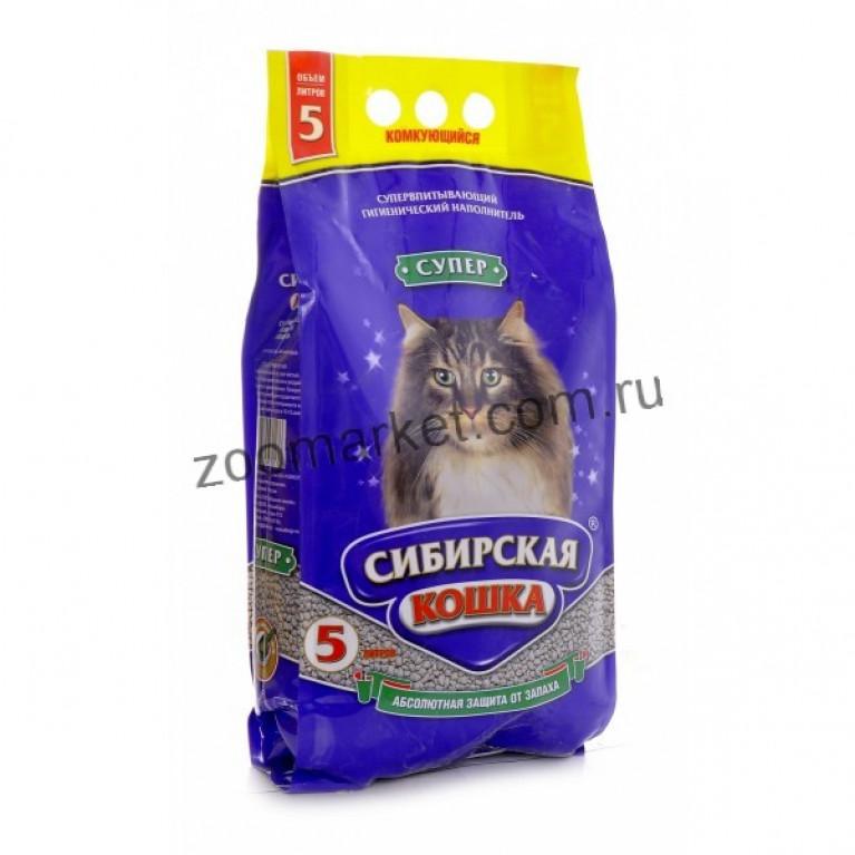 Сибирская Кошка Наполнитель для кошачьих туалетов Супер комкующийся