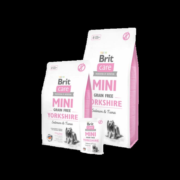 Brit Care MINI Grain Free Yorkshire беззерновой корм для собак породы йоркширский терьер ( лосось тунец)