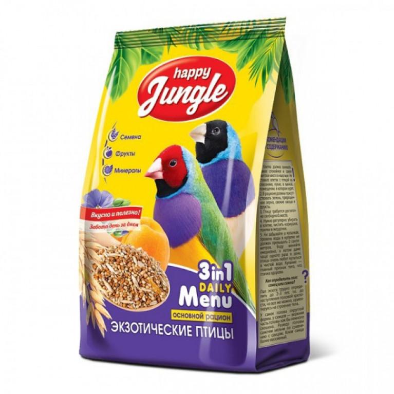 Happy Jungle Корм для экзотических птиц 500 г