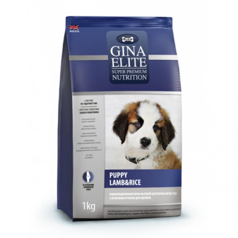 Gina Elite PUPPY LAMB&RICE Полнорационный корм для щенков, беременных и кормящих сук, с ягненком и рисом
