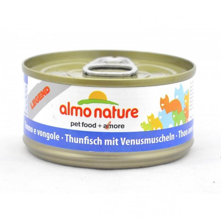 Almo Nature консервы для кошек с тунцом и моллюсками, 75% мяса 70 гр