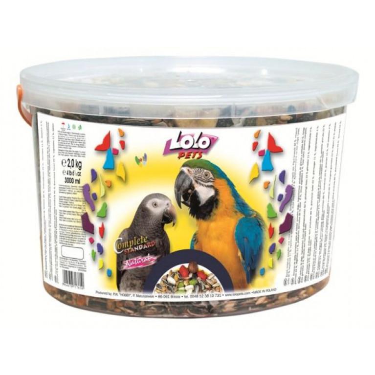 LoLo Pets Полнорационный корм для крупных попугаев в ведрах, 1.5 кг